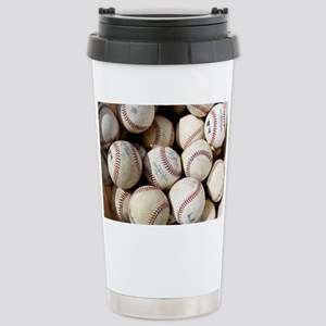 Baseballs Stainless Steel Travel Mug