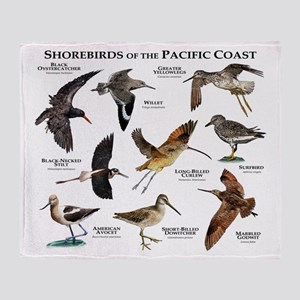 Shorebirds of the Pacific Coast Throw Blanket