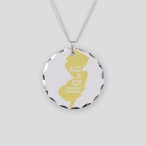 New Jersey Necklace Circle Charm
