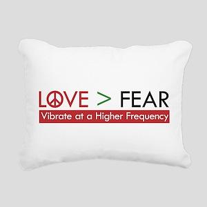 LOVE FEAR Rectangular Canvas Pillow