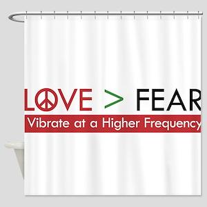 LOVE FEAR Shower Curtain