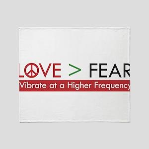 LOVE FEAR Throw Blanket