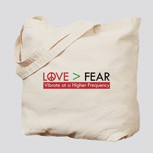 LOVE FEAR Tote Bag