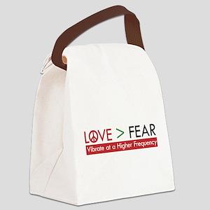 LOVE FEAR Canvas Lunch Bag
