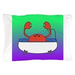 Crab in Tub (Green/Purple) Pillow Case