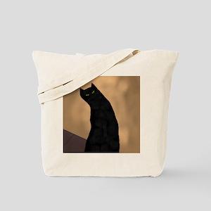 Black Cat is Black Tote Bag