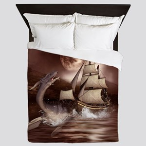 Awesome seadragon with ship in the night Queen Duv