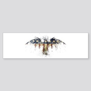 American Eagle Flag Sticker (Bumper)