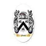 Finch Oval Car Magnet