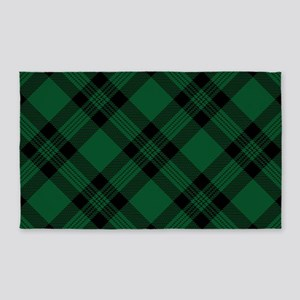 Green Plaid Pattern 3'x5' Area Rug