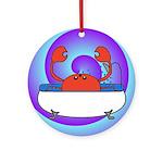 Crab in Tub (Swirls) Ornament (Round)