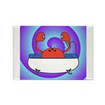 Crab in Tub (Swirls) Rectangle Magnet (100 pack)