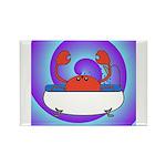 Crab in Tub (Swirls) Rectangle Magnet