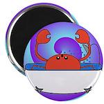 Crab in Tub (Swirls) Magnet