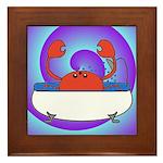 Crab in Tub (Swirls) Framed Tile
