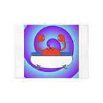 Crab in Tub (Swirls) 5'x7'Area Rug