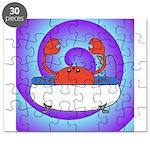 Crab in Tub (Swirls) Puzzle