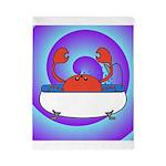 Crab in Tub (Swirls) Twin Duvet