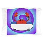 Crab in Tub (Swirls) Pillow Case