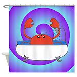 Crab in Tub (Swirls) Shower Curtain