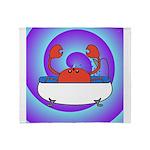 Crab in Tub (Swirls) Throw Blanket