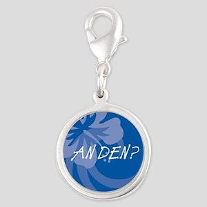 An Den? Silver Round Charm