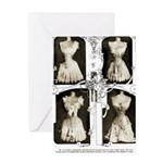 1905corsets2sepia Greeting Cards