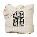1905corsets2sepia Tote Bag