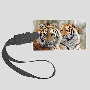 Tigers Large Luggage Tag