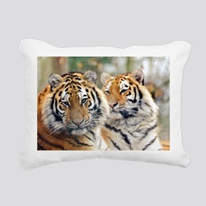 Tigers Rectangular Canvas Pillow