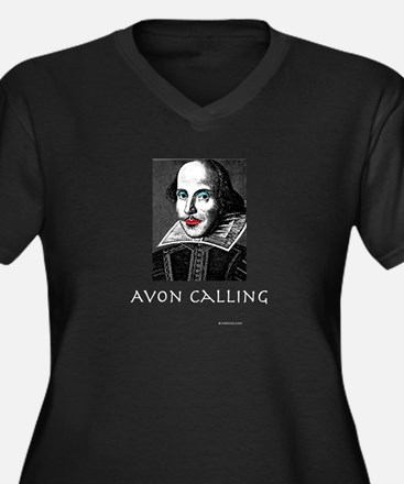Avon Calling! Women's Plus Size V-Neck Dark T-Shir