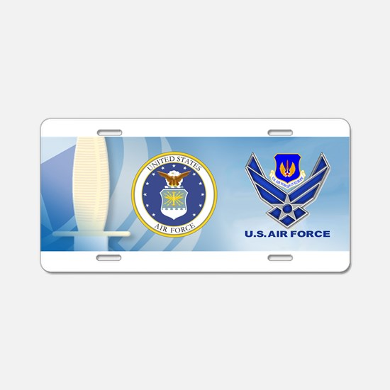 USAF Europe Aluminum License Plate