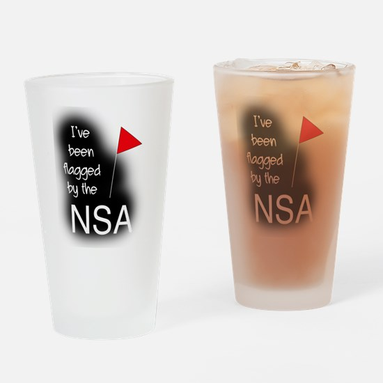 Ive Been Flagged by the NSA Drinking Glass
