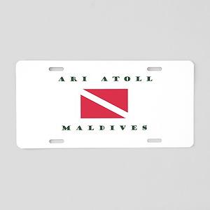 Ari Atoll Maldives Dive Aluminum License Plate