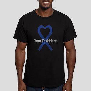 Personalized Dark Blue Men's Fitted T-Shirt (dark)