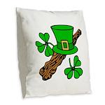 Liftarn - Hat - Shillelagh Burlap Throw Pillow