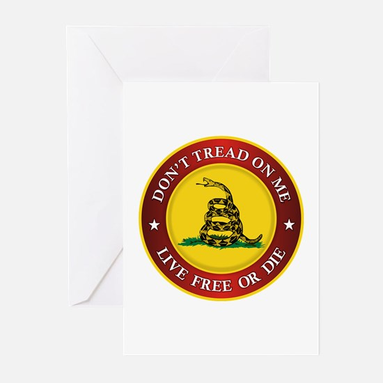 DTOM Gadsden Flag (logo) Greeting Cards