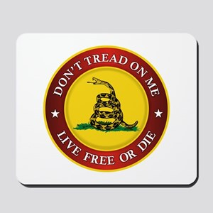 DTOM Gadsden Flag (logo) Mousepad