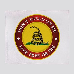 DTOM Gadsden Flag (logo) Throw Blanket