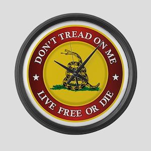 DTOM Gadsden Flag (logo) Large Wall Clock