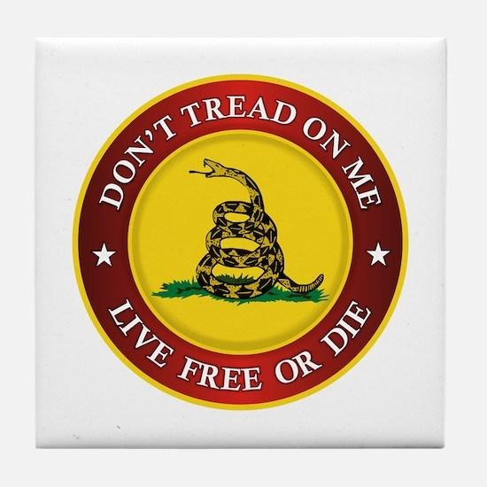 DTOM Gadsden Flag (logo) Tile Coaster