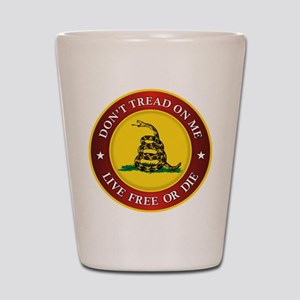 DTOM Gadsden Flag (logo) Shot Glass