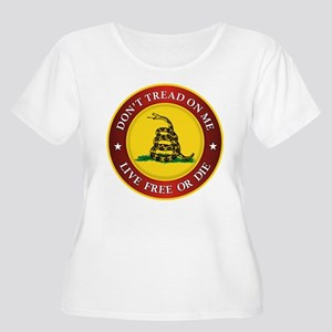 DTOM Gadsden Flag (logo) Plus Size T-Shirt