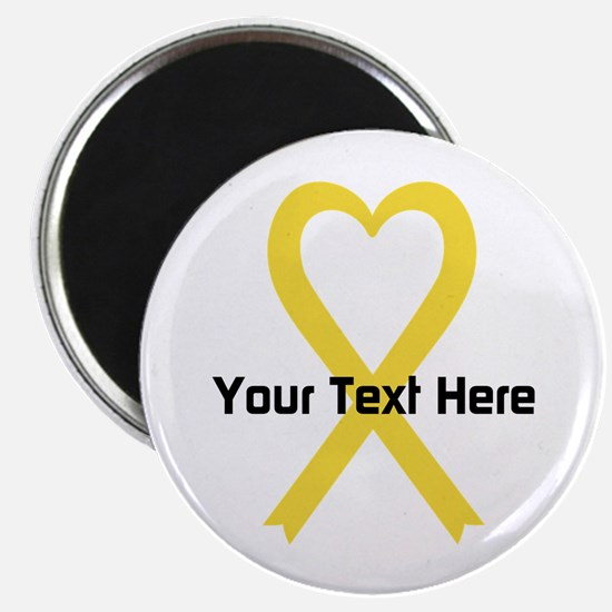 "Personalized Yellow Ribbon 2.25"" Magnet (10 pack)"