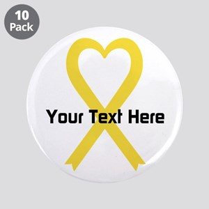 "Personalized Yellow Ribbon H 3.5"" Button (10 pack)"
