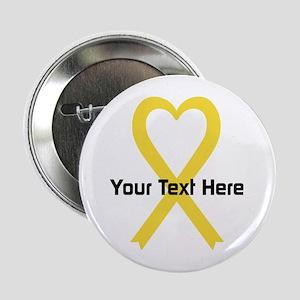 "Personalized Yellow Ribbon 2.25"" Button"