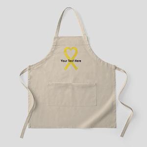 Personalized Yellow Ribbon Heart Apron