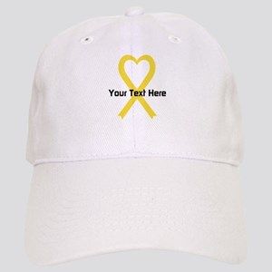 Personalized Yellow Ribbon Heart Cap
