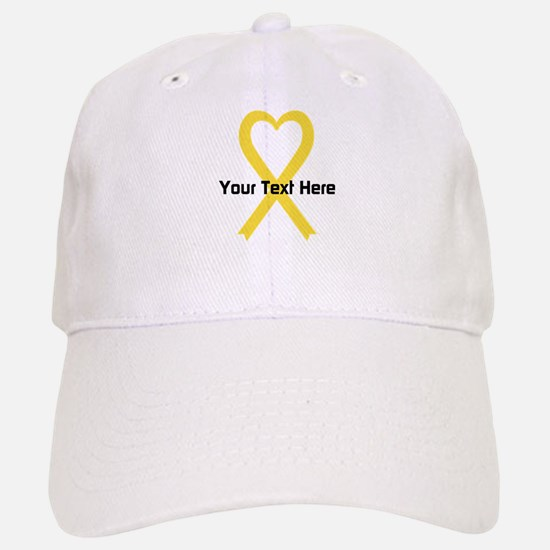 Personalized Yellow Ribbon Heart Baseball Baseball Cap