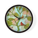 Cardinal Love Notes Wall Clock